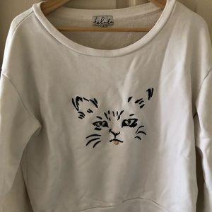 Aritzia Talula Cat Sweatshirt